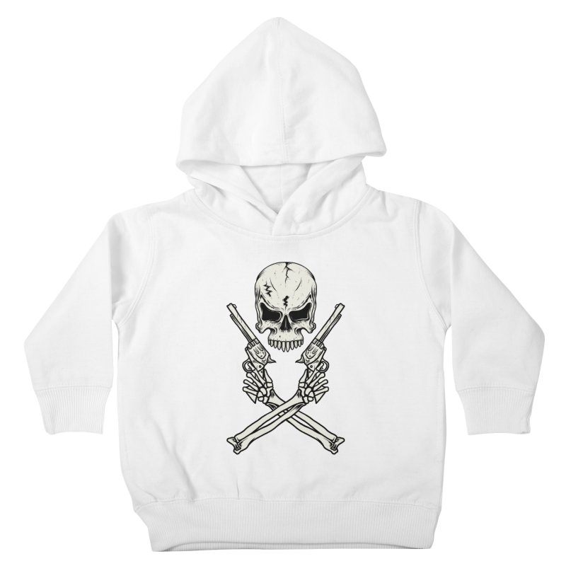 COLT 45 CROSSBONES Kids Toddler Pullover Hoody by blackboxshop's Artist Shop
