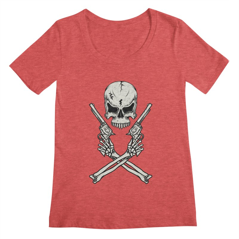 COLT 45 CROSSBONES Women's Scoopneck by blackboxshop's Artist Shop