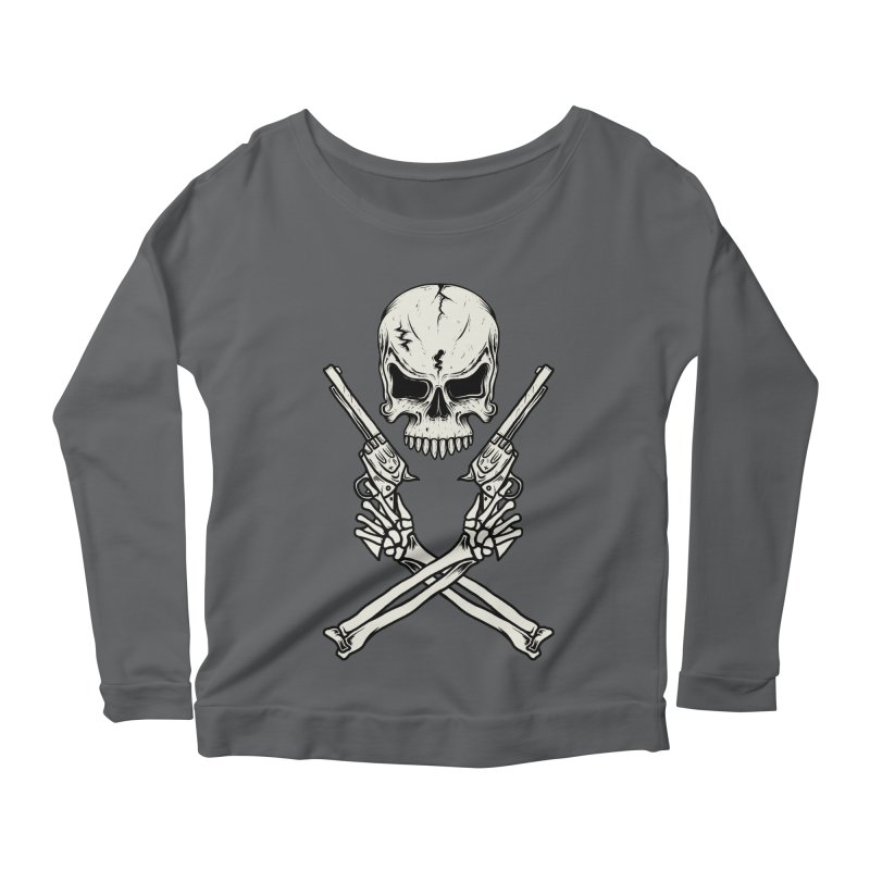 COLT 45 CROSSBONES Women's Longsleeve Scoopneck  by blackboxshop's Artist Shop