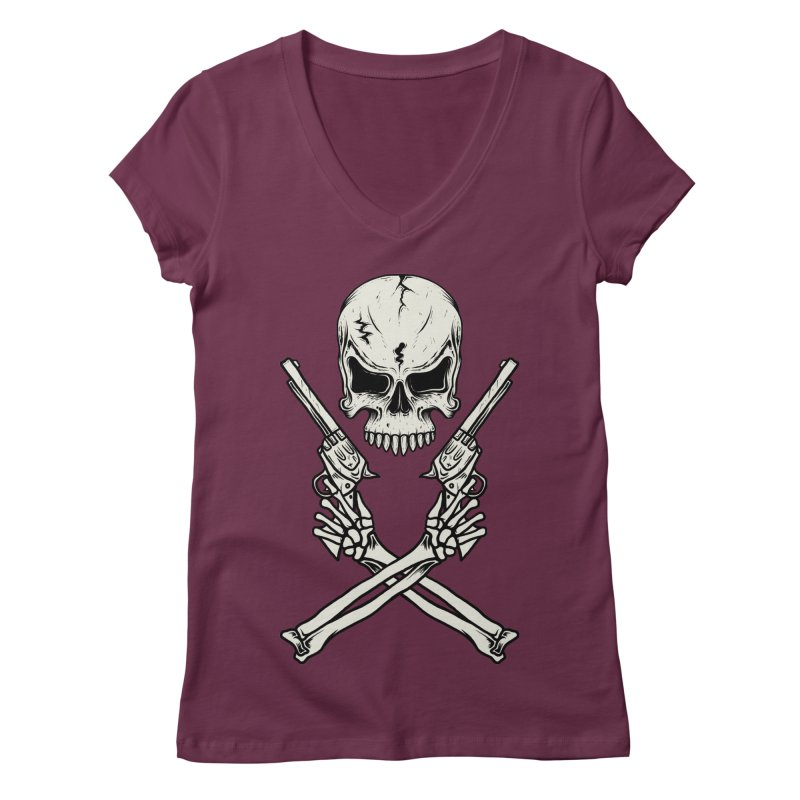 COLT 45 CROSSBONES Women's V-Neck by blackboxshop's Artist Shop