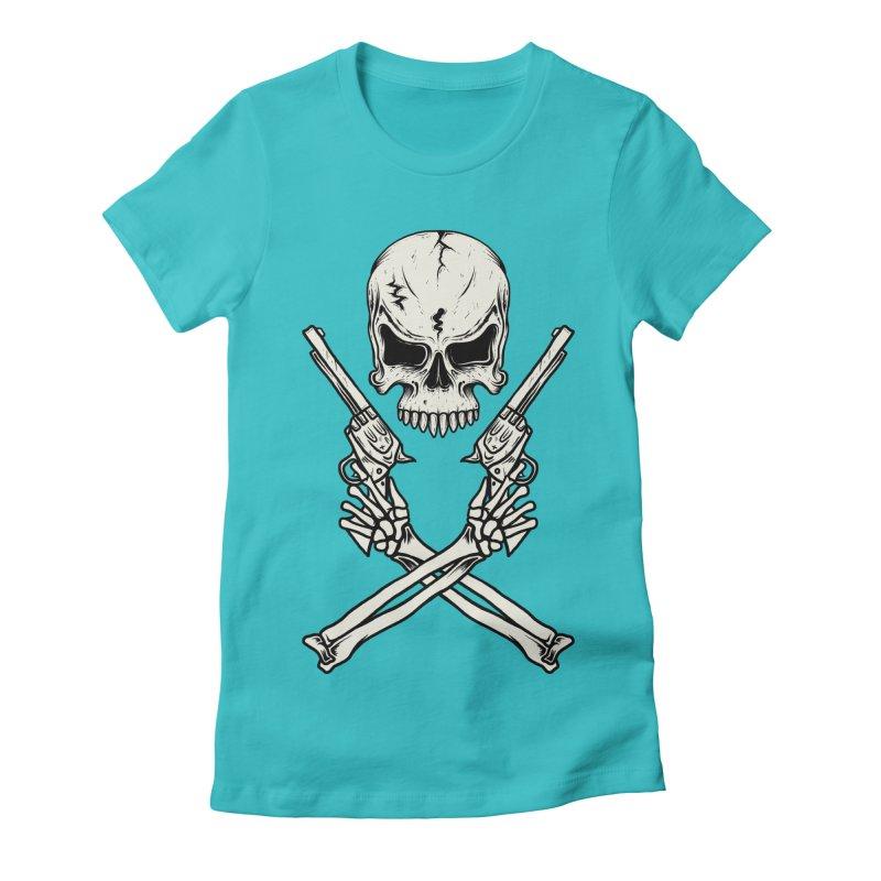 COLT 45 CROSSBONES Women's Fitted T-Shirt by blackboxshop's Artist Shop