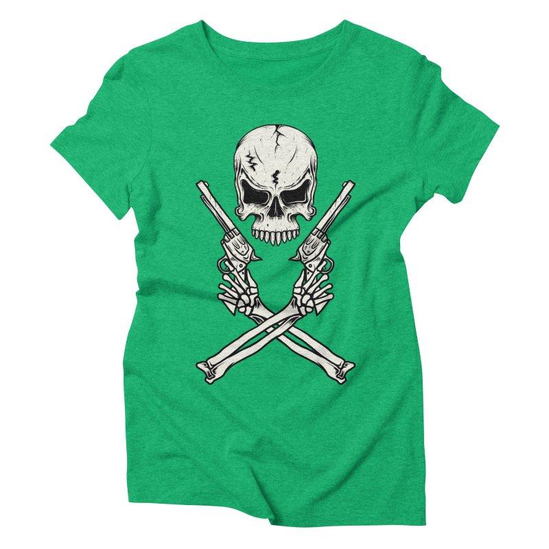 COLT 45 CROSSBONES Women's Triblend T-shirt by blackboxshop's Artist Shop