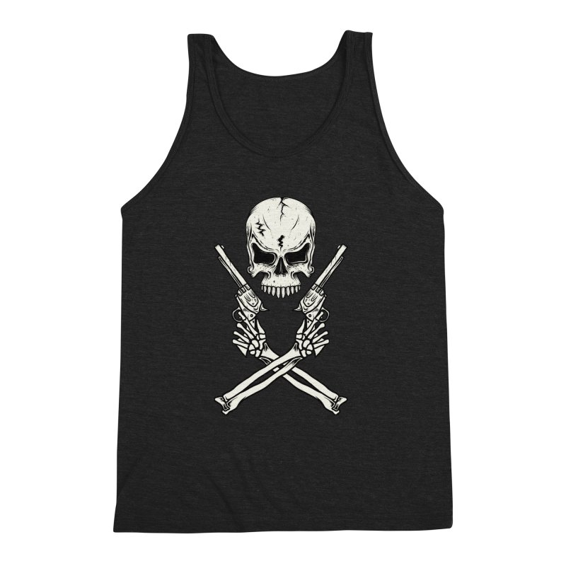 COLT 45 CROSSBONES Men's Triblend Tank by blackboxshop's Artist Shop
