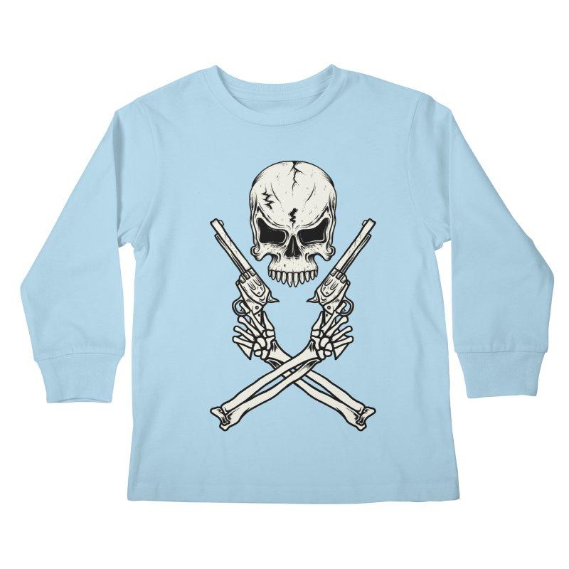 COLT 45 CROSSBONES Kids Longsleeve T-Shirt by blackboxshop's Artist Shop