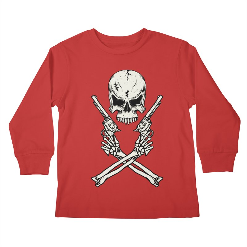 COLT 45 CROSSBONES Kids Longsleeve T-Shirt by blackboxshop's Artist Shop