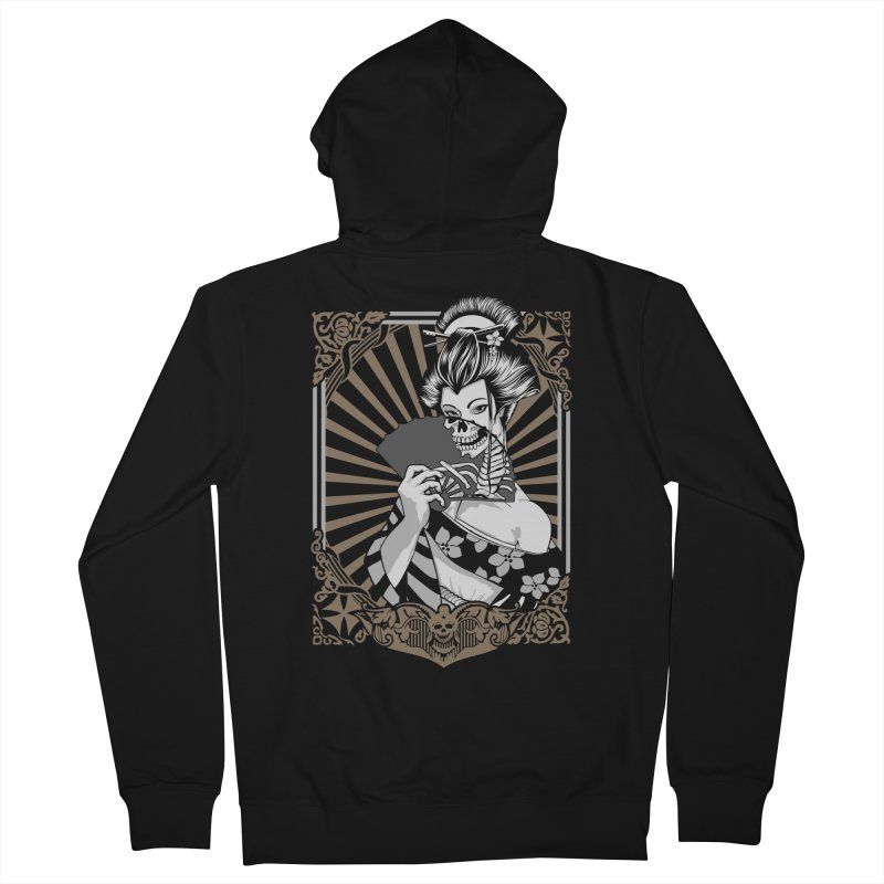 Zombie Geisha  Women's Zip-Up Hoody by blackboxshop's Artist Shop
