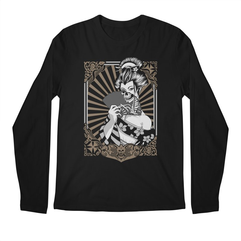 Zombie Geisha  Men's Longsleeve T-Shirt by blackboxshop's Artist Shop