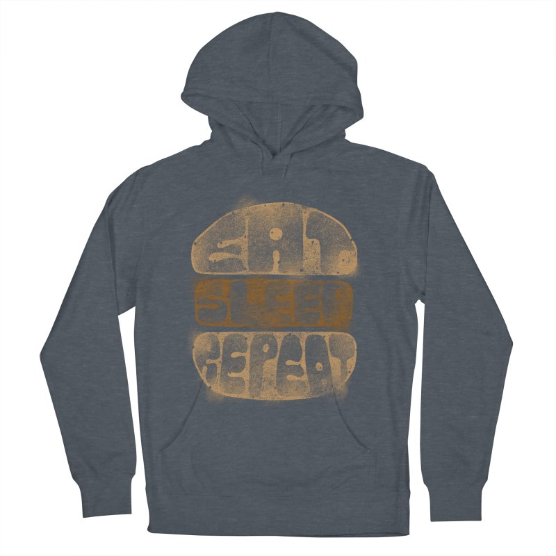 Eat Sleep Repeat  Men's Pullover Hoody by blackboxshop's Artist Shop