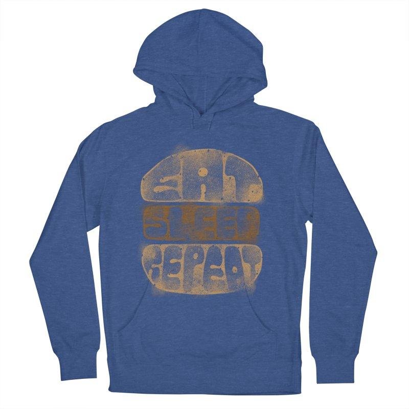 Eat Sleep Repeat  Men's Pullover Hoody by blackboxshop's Artist Shop