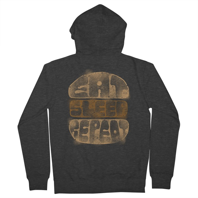 Eat Sleep Repeat  Women's Zip-Up Hoody by blackboxshop's Artist Shop