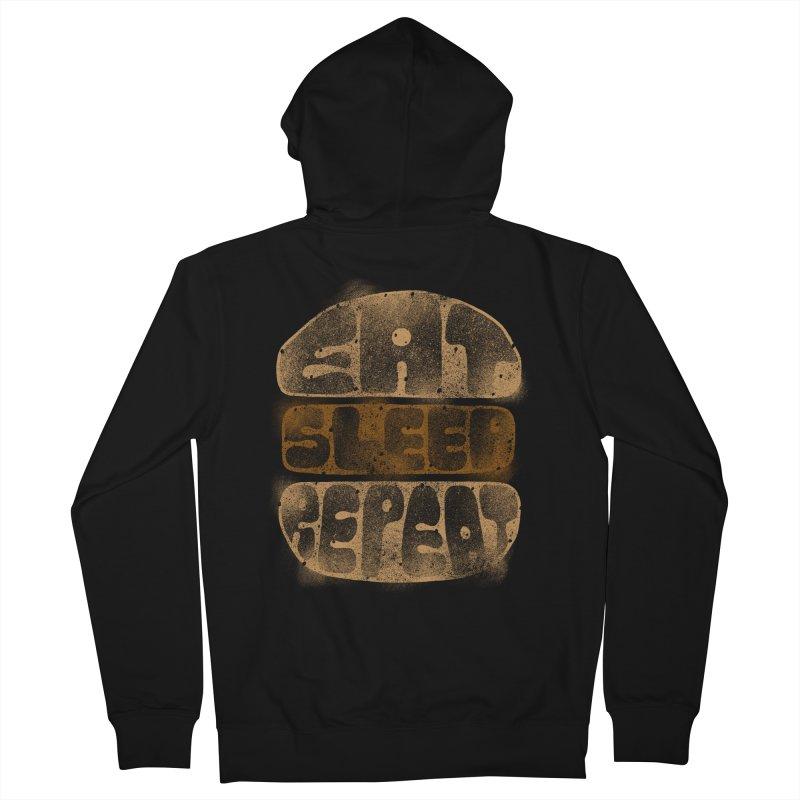 Eat Sleep Repeat  Men's Zip-Up Hoody by blackboxshop's Artist Shop