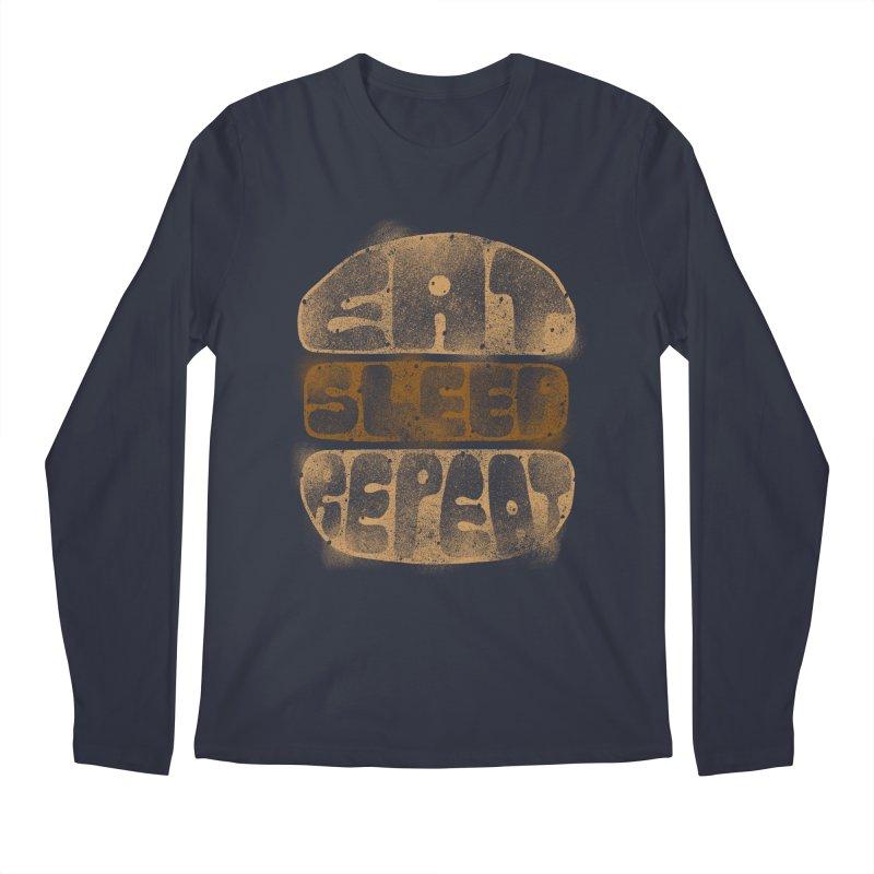 Eat Sleep Repeat  Men's Longsleeve T-Shirt by blackboxshop's Artist Shop