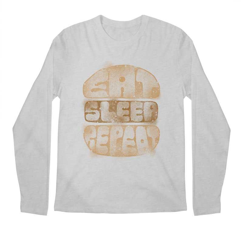 Eat Sleep Repeat  Men's Longsleeve T-Shirt by blackboxshop's Artist Shop