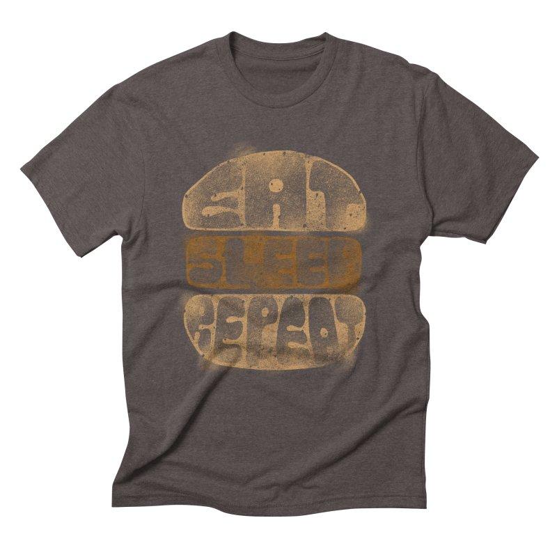 Eat Sleep Repeat  Men's Triblend T-Shirt by blackboxshop's Artist Shop