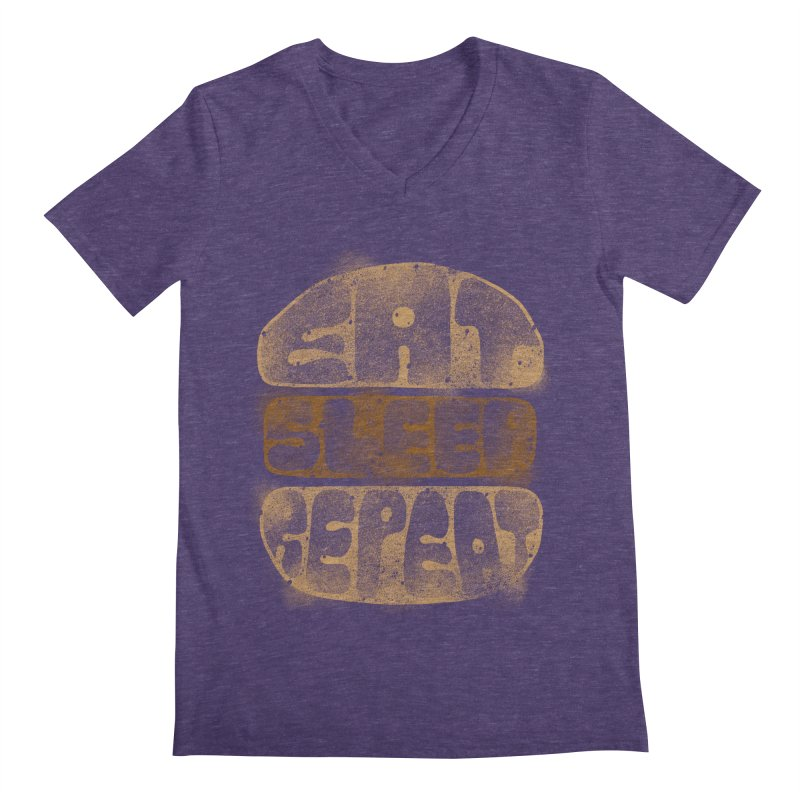 Eat Sleep Repeat  Men's V-Neck by blackboxshop's Artist Shop