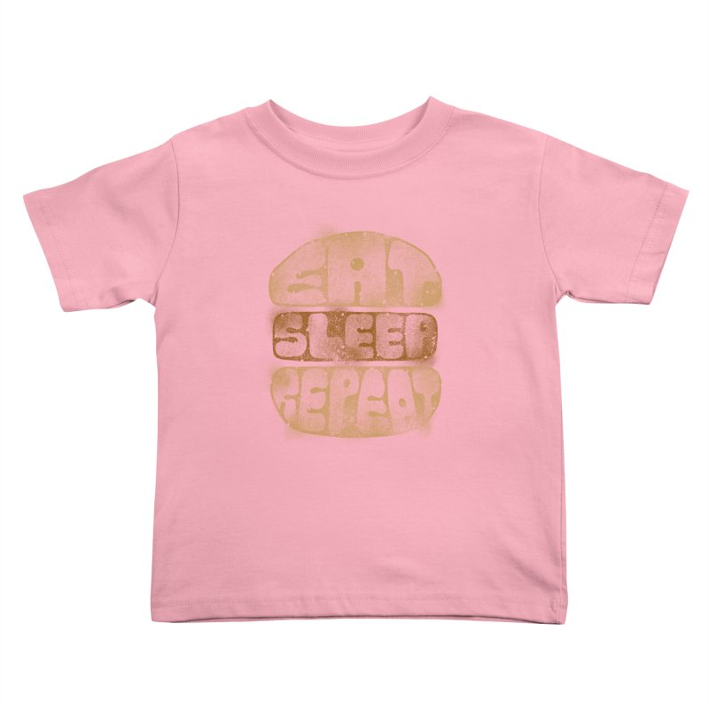 Eat Sleep Repeat  Kids Toddler T-Shirt by blackboxshop's Artist Shop