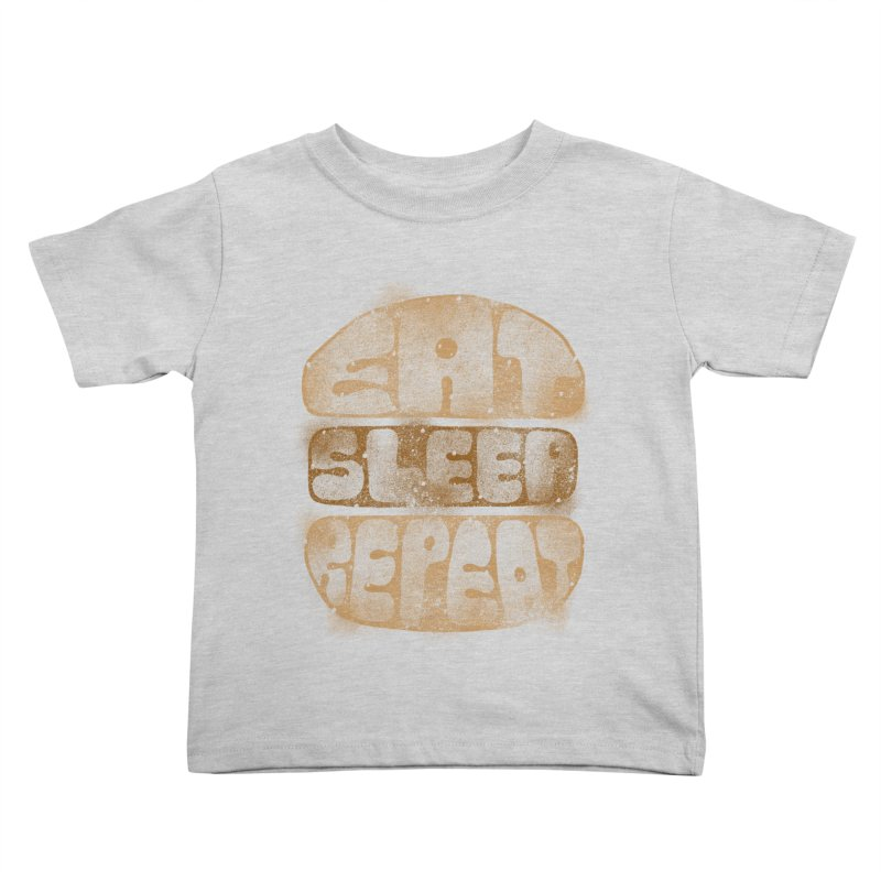 Eat Sleep Repeat  Kids Toddler T-Shirt by blackboxshop's Artist Shop