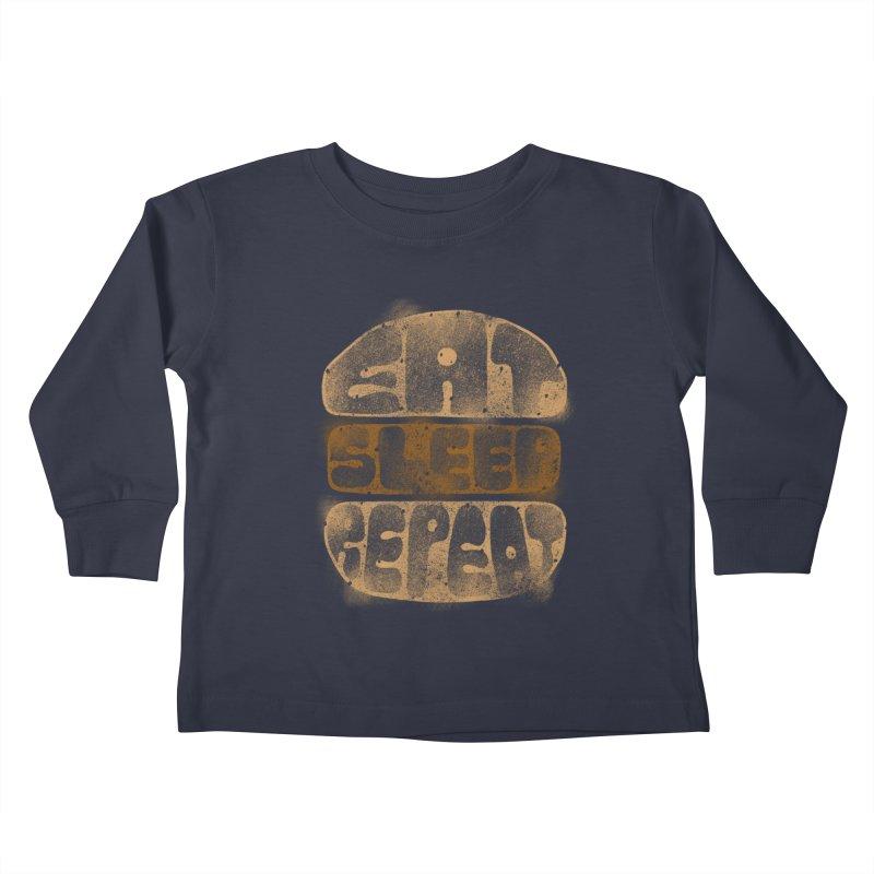 Eat Sleep Repeat  Kids Toddler Longsleeve T-Shirt by blackboxshop's Artist Shop