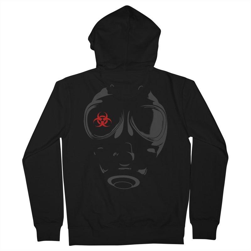 Gas mask Women's Zip-Up Hoody by blackboxshop's Artist Shop