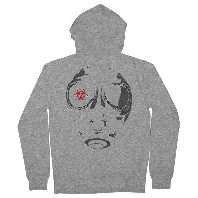 Gas mask Men's Zip-Up Hoody by blackboxshop's Artist Shop