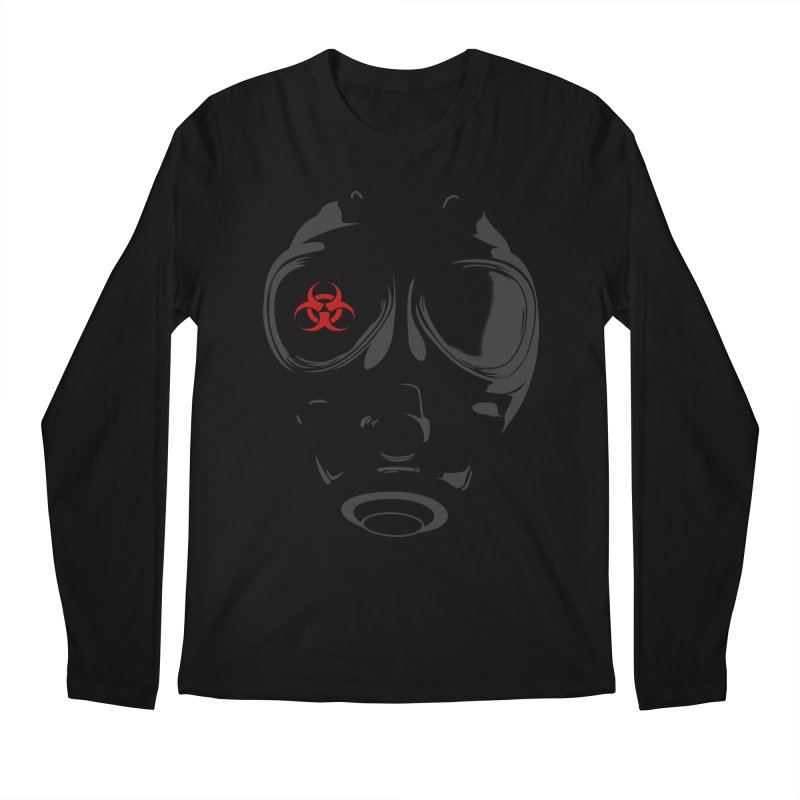 Gas mask Men's Longsleeve T-Shirt by blackboxshop's Artist Shop