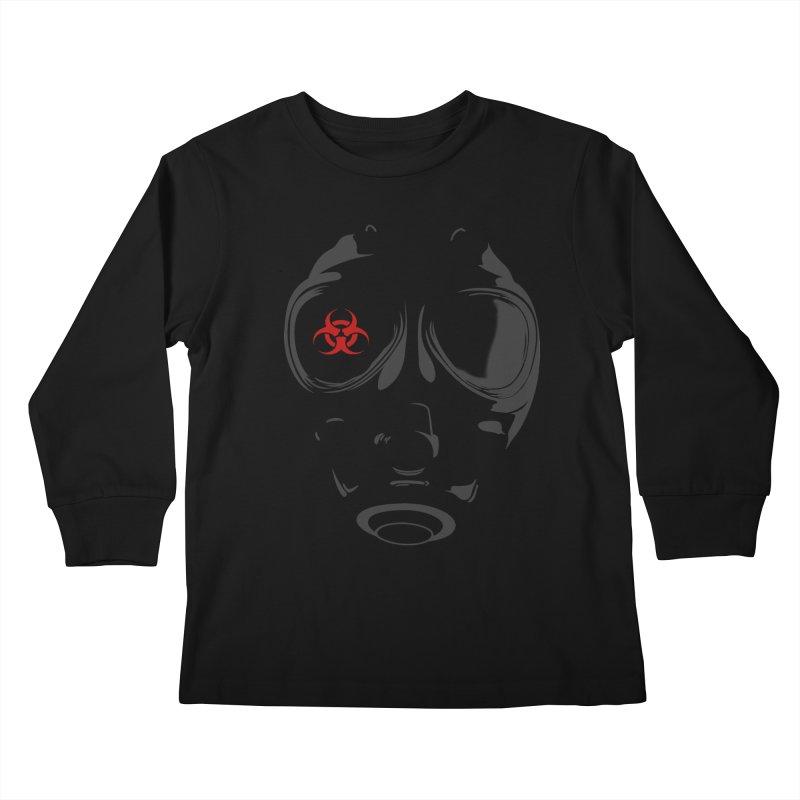 Gas mask Kids Longsleeve T-Shirt by blackboxshop's Artist Shop