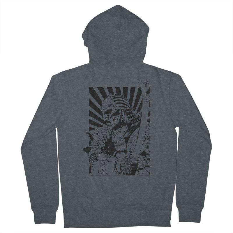 Ronin Samurai Men's Zip-Up Hoody by blackboxshop's Artist Shop