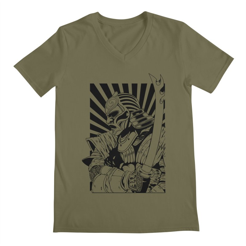 Ronin Samurai Men's V-Neck by blackboxshop's Artist Shop