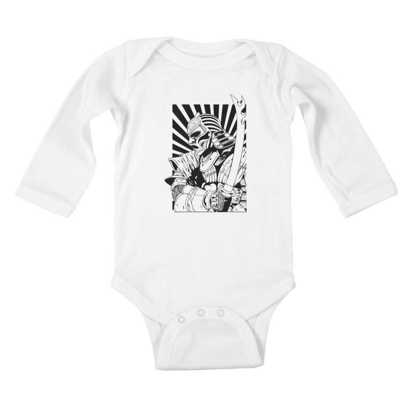 Ronin Samurai Kids Baby Longsleeve Bodysuit by blackboxshop's Artist Shop