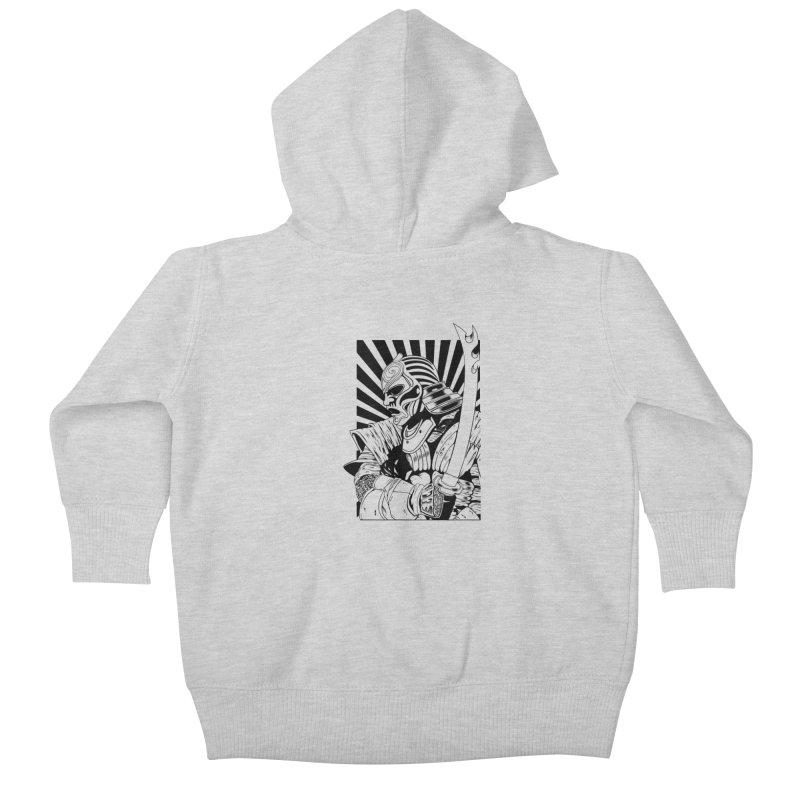 Ronin Samurai Kids Baby Zip-Up Hoody by blackboxshop's Artist Shop