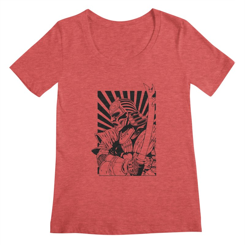 Ronin Samurai Women's Scoopneck by blackboxshop's Artist Shop