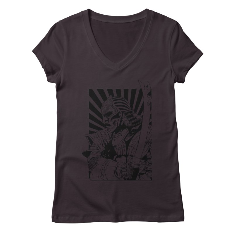 Ronin Samurai Women's V-Neck by blackboxshop's Artist Shop