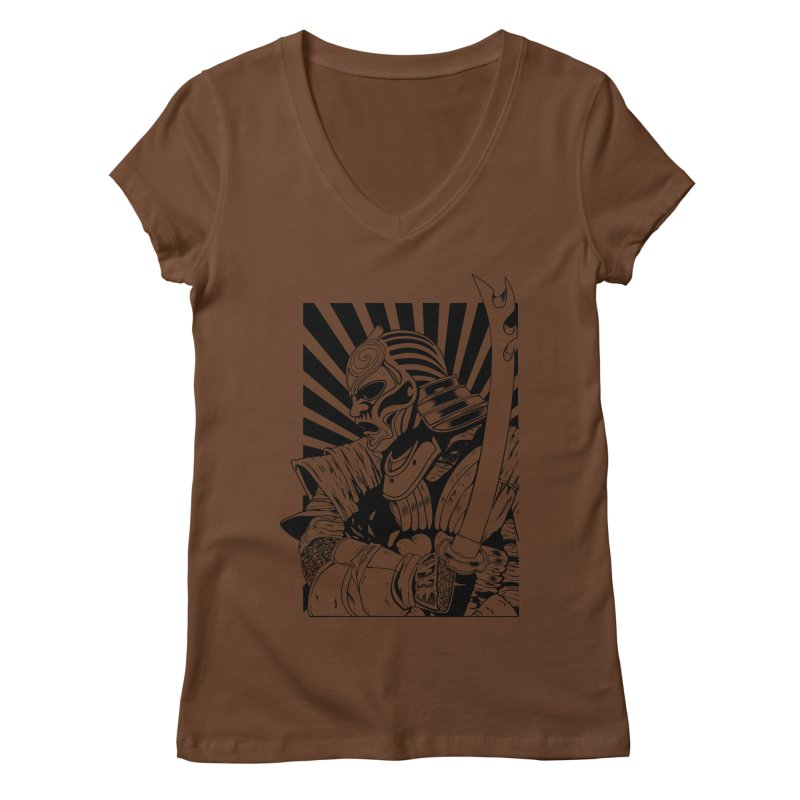 Ronin Samurai Women's V-Neck by blackboxshop's Artist Shop