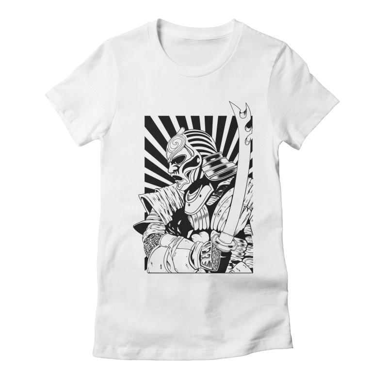 Ronin Samurai Women's Fitted T-Shirt by blackboxshop's Artist Shop