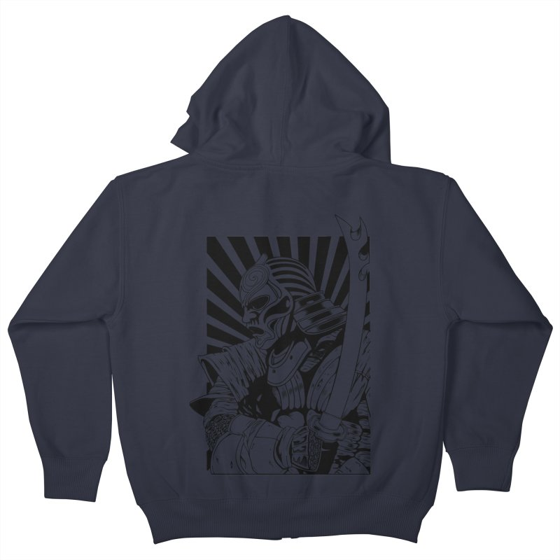 Ronin Samurai Kids Zip-Up Hoody by blackboxshop's Artist Shop