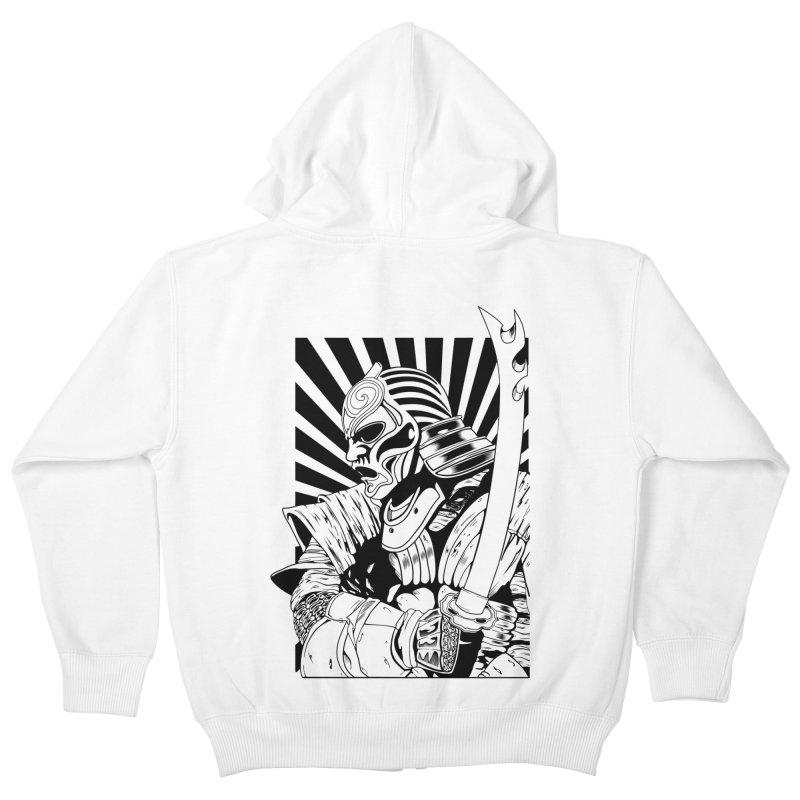 Ronin Samurai Kids Zip-Up Hoody by blackboxshop's Artist Shop