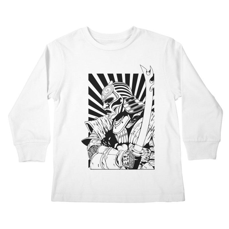 Ronin Samurai Kids Longsleeve T-Shirt by blackboxshop's Artist Shop