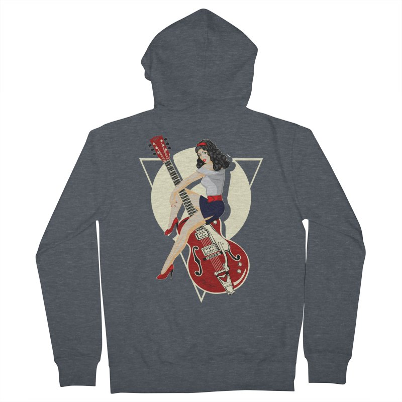 Queen Rock & roll Women's Zip-Up Hoody by blackboxshop's Artist Shop