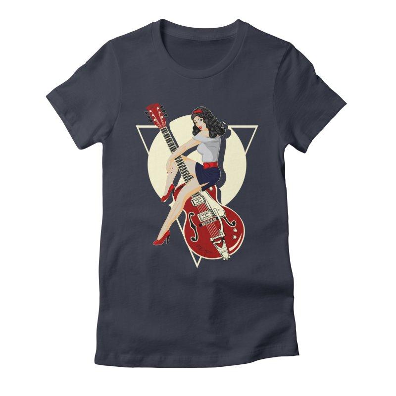 Queen Rock & roll Women's Fitted T-Shirt by blackboxshop's Artist Shop