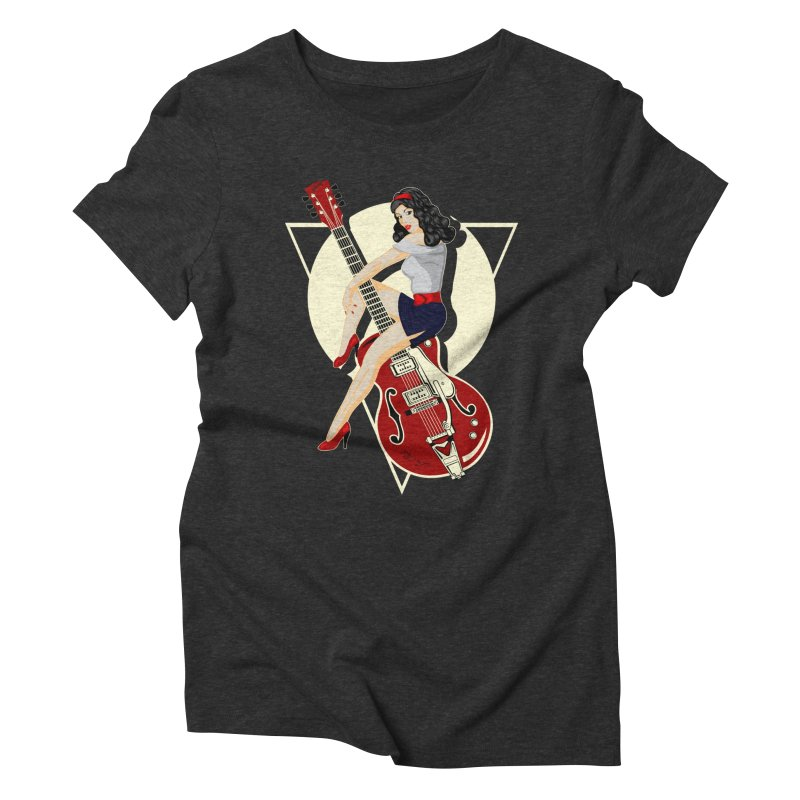 Queen Rock & roll Women's Triblend T-Shirt by blackboxshop's Artist Shop