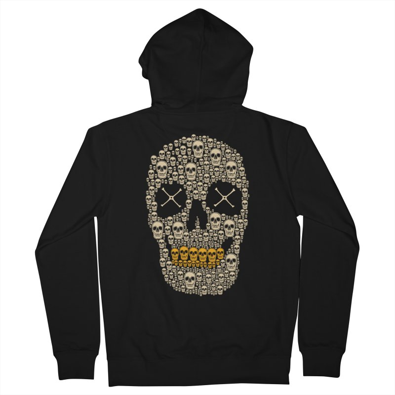 Gold Digger Skeleton Women's Zip-Up Hoody by blackboxshop's Artist Shop