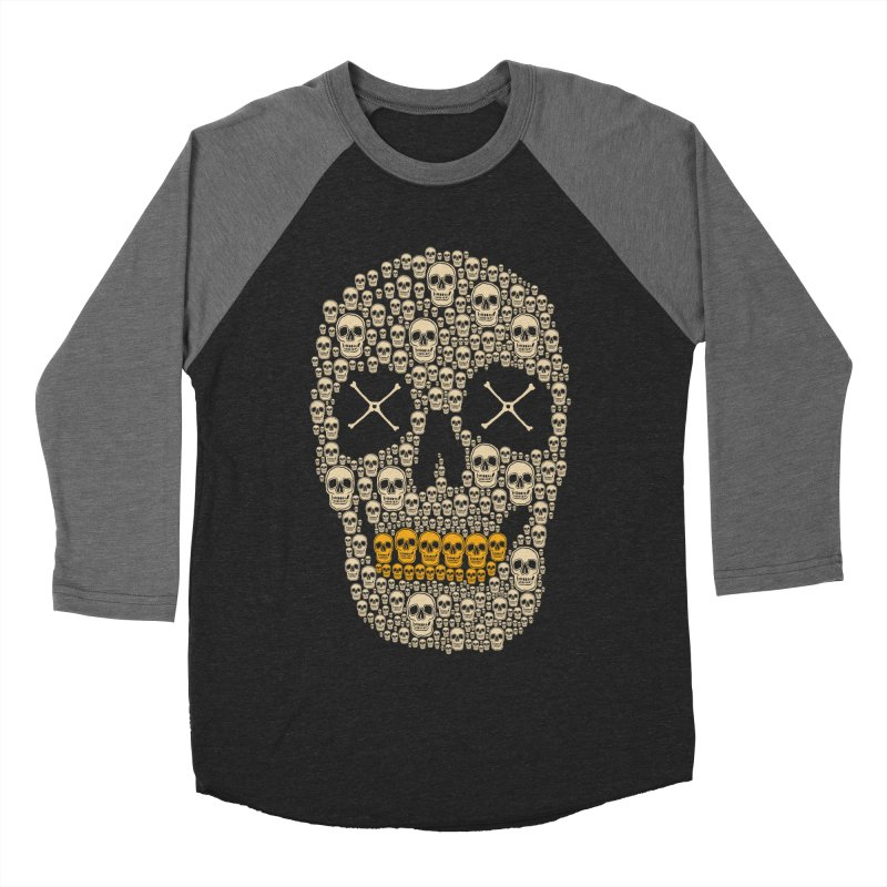 Gold Digger Skeleton Men's Baseball Triblend T-Shirt by blackboxshop's Artist Shop