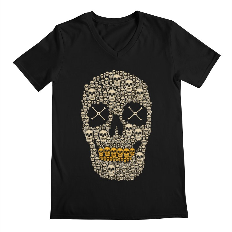 Gold Digger Skeleton Men's V-Neck by blackboxshop's Artist Shop