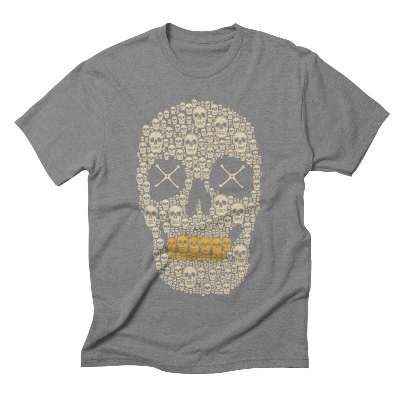 Gold Digger Skeleton Men's Triblend T-shirt by blackboxshop's Artist Shop