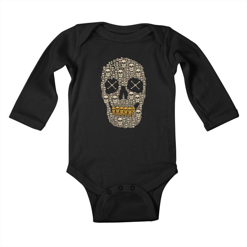 Gold Digger Skeleton Kids Baby Longsleeve Bodysuit by blackboxshop's Artist Shop