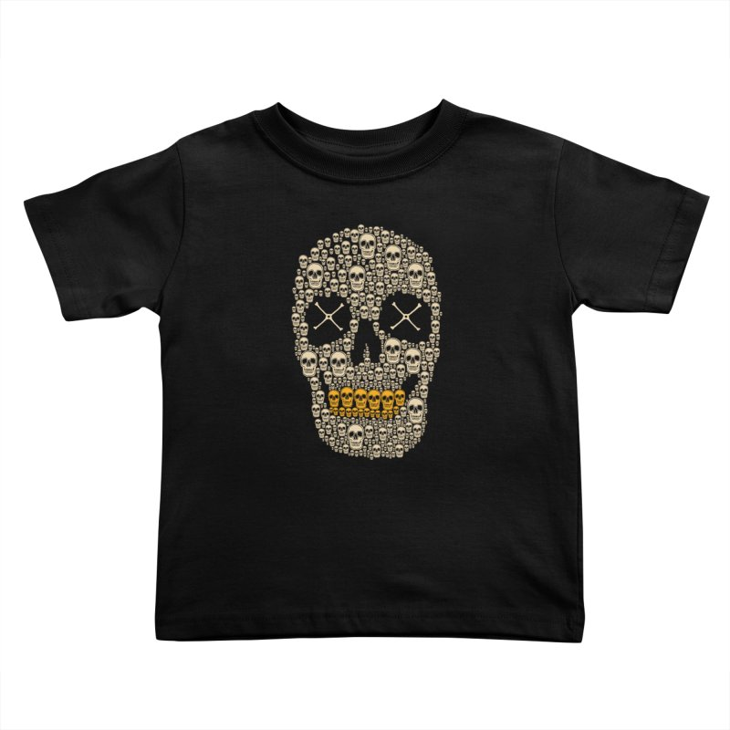 Gold Digger Skeleton Kids Toddler T-Shirt by blackboxshop's Artist Shop