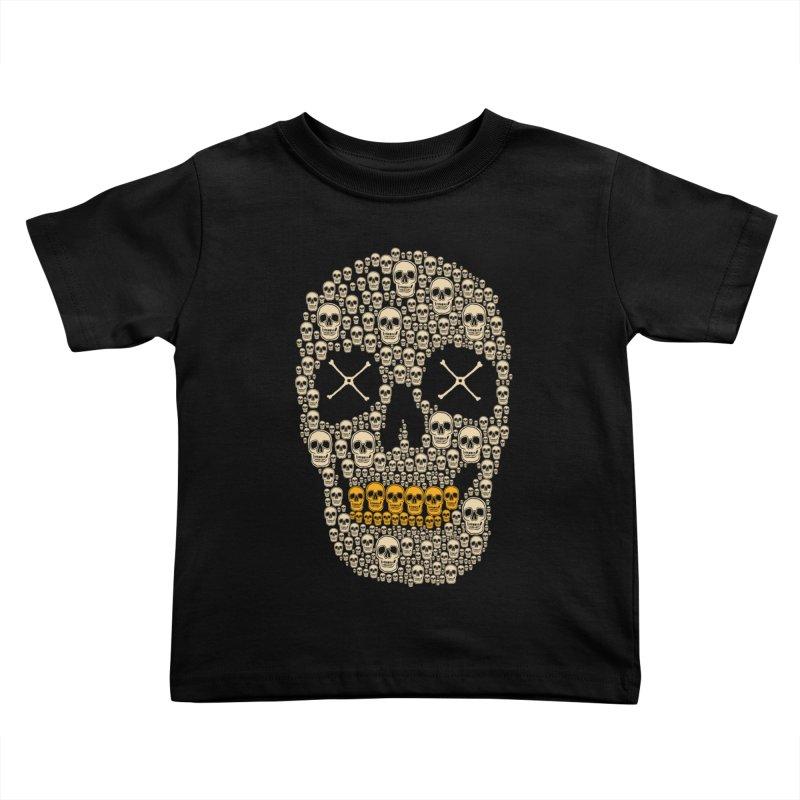 Gold Digger Skeleton Kids Toddler T-Shirt by blackboxshop's Artist Shop