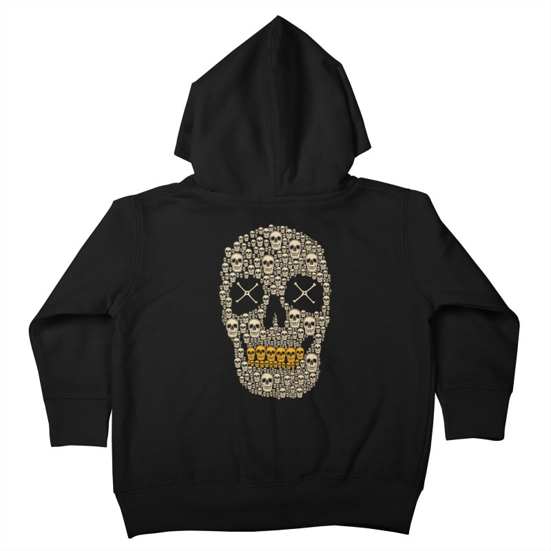 Gold Digger Skeleton Kids Toddler Zip-Up Hoody by blackboxshop's Artist Shop