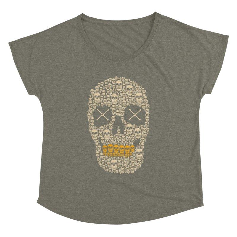 Gold Digger Skeleton Women's Dolman by blackboxshop's Artist Shop