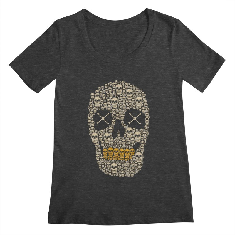 Gold Digger Skeleton Women's Scoopneck by blackboxshop's Artist Shop